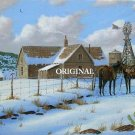 Winter Ranch Cross Stitch Pattern Western ~ETP~