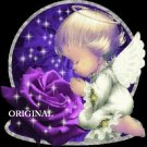 Purple Rose Angel Cross Stitch Pattern ~ETP~