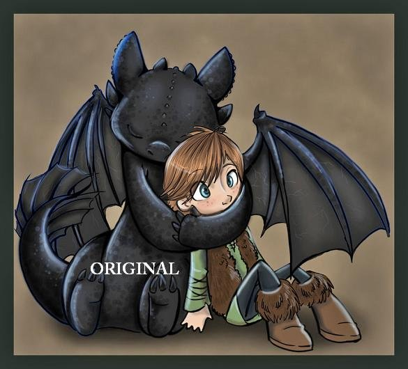 Hiccup Amp Toothless Cross Stitch Pat Train Dragon Etp