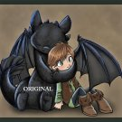 Hiccup & Toothless Cross Stitch Pat Train Dragon ~ETP~