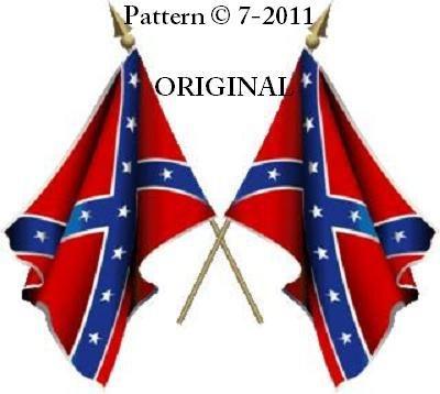 Confederate Flag Cross Stitch Pattern Rebel...STATES RIGHTS...~ETP~