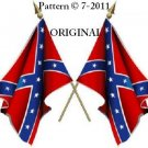 Confederate Flag Cross Stitch Pattern Rebel...STATES RIGHTS...~ETP~