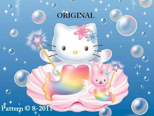 Hello Kitty Rainbow Mermaid Cross Stitch Pattern ~ETP~