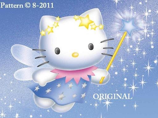 Hello Kitty Fairy Cross Stitch Pattern ~ETP~