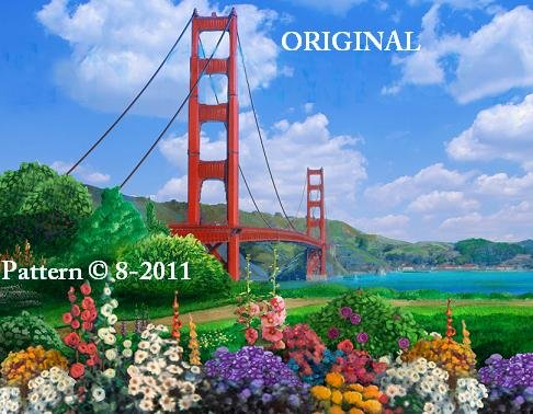 Golden Gate Bridge Cross Stitch Pattern ~ETP~