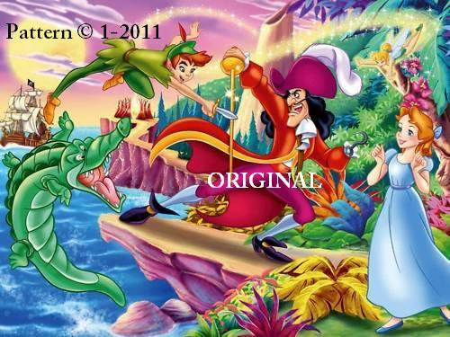 Peter Pan Cross Stitch Pattern Disney ~ETP~