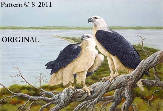 2 Sea Eagles Cross Stitch Pattern Birds ~ETP~