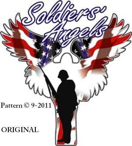 A Soldier's Angel #2 Cross Stitch Pattern USA Patriotic ~ETP~