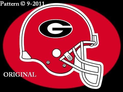 Georgia Bulldogs Helmet Cross Stitch Pattern Football ~ETP~