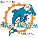 Miami Dolphins #1 Cross Stitch Pattern Football ~ETP~