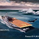 Aircraft Carrier Cross Stitch Pattern Military ~ETP~
