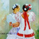 Andalusian Girls Cross Stitch Pattern ~ETP~