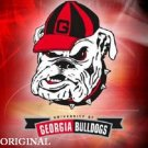 Georgia Bulldog W Cap Cross Stitch Pattern Football ~ETP~