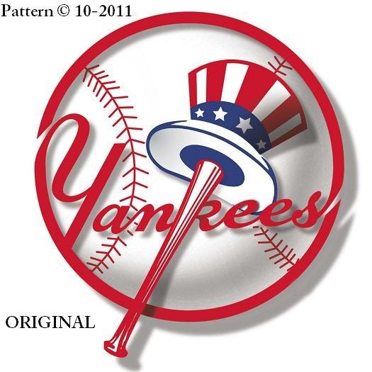 New York Yankees #1 Cross Stitch Pattern Baseball ~ETP~