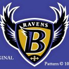 Baltimore Ravens #1 Cross Stitch Pattern NFL Football ~ETP~