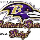 Baltimore Ravens Baby! Cross Stitch Pattern NFL Football ~ETP~