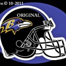 Baltimore Ravens Helmet Cross Stitch Pattern NFL Football ~ETP~