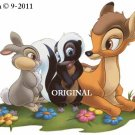 Bambi, Flower & Thumper Cross Stitch Pattern Deer, Rabbit, Skunk Disney  ~ETP~