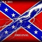 Confederate Lightening ~ Flag~ Cross Stitch Pattern ~ETP~