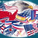 America USA Patriotic Cross Stitch Pattern ~ETP~