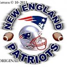 New England Patriots #1 Cross Stitch Pattern Football NFL ~ETP~