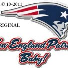 New England Patriots Baby! Cross Stitch Pattern NFL Football ~ETP~