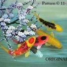 Oriental Koi 1 Cross Stitch Pattern Fish ~ETP~