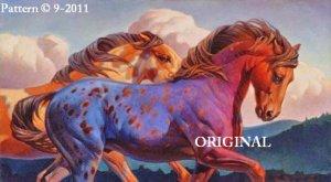 Painted Ponies Cross Stitch Pattern Horses ~ETP~