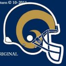 St Louis Rams Helmet #1 Cross Stitch Pattern NFL Football ~ETP~