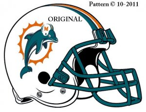 Miami Dolphins #4 Cross Stitch Pattern Football NFL ~ETP~