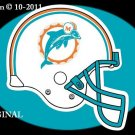 Miami Dolphins Helmet #3 Cross Stitch Pattern Football NFL ~ETP~