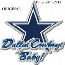 Dallas Cowboys Baby! Cross Stitch Pattern NFL Football