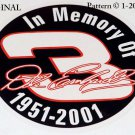In Memory Of Dale Earnhardt Sr. ~ 1951 ~ 2001 Cross Stitch Pattern NASCAR