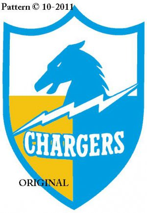 San Diego Chargers #1 Cross Stitch Pattern NFL FootbAll