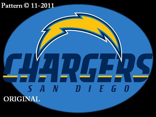 San Diego Chargers #8 Cross Stitch Pattern NFL Football