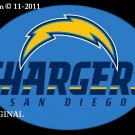 San Diego Chargers #8 Cross Stitch Pattern NFL Football