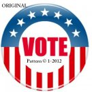 VOTE...! Cross Stitch Pattern Patriotic