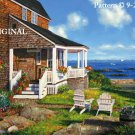 House by the Ocean Cross Stitch Pattern Sea Shore ~ETP~