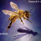 Honeybee & Shadow Cross Stitch Pattern Insects ~ETP~