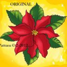 Poinsettia Cross Stitch Pattern ~ETP~