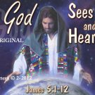 God Sees & Hears Cross Stitch Pattern Yeshua Jesus Messiah