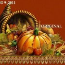 Happy Thanksgiving Cross Stitch Pattern Cornucopia ~ETP~