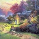 The Good Shepherd's Cottage Cross Stitch Pattern Kinkade ETP