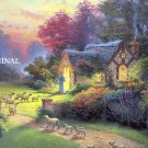 The Good Shepherd's Cottage Cross Stitch Pattern Kinkade ETP