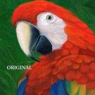 Beautiful Scarlet Macaw Cross Stitch Pattern Parrots ETP