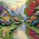 Evening Cottage Cross Stitch Pattern Kinkade ETP