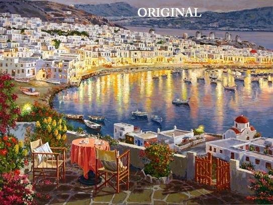 Grecian Sunset Cross Stitch Pattern Greece ETP