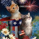 Patriot Kittens Cross Stitch Pattern Cats America ETP