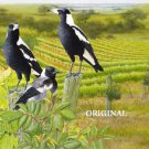 3 More Magpies Cross Stitch Pattern Birds ETP