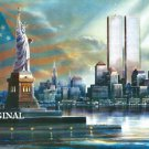 9~11 Commemoration Cross Stitch Pattern NYC Twin Towers ETP